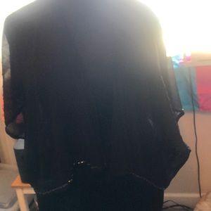 Collection Eighteen sheer black jacket diamond